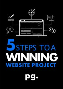 5 steps to a winning website project cover image
