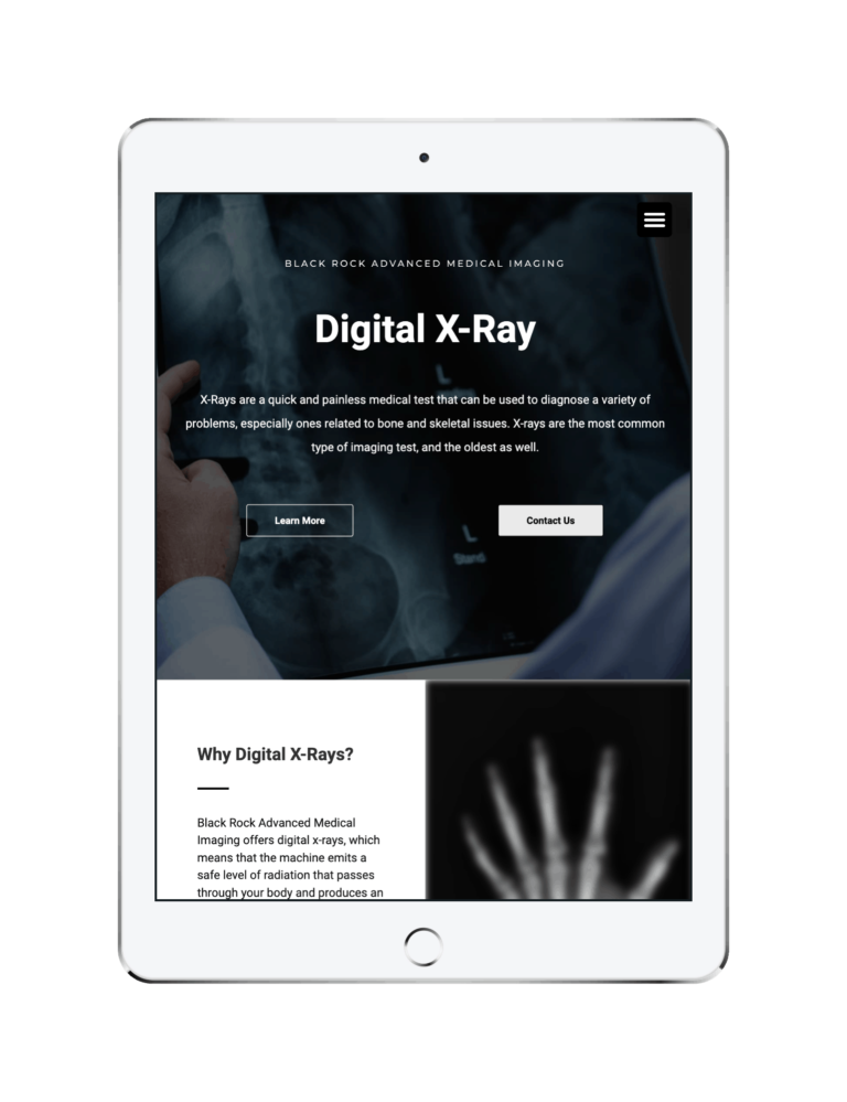 digital x ray page on ipad