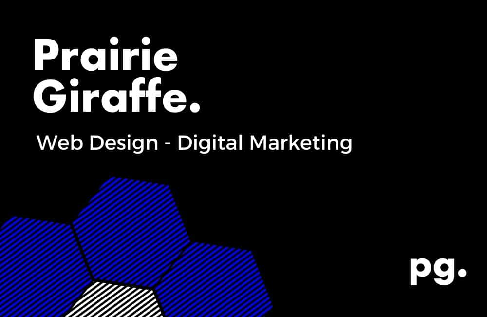 web design and digital marketing - prairie giraffe.